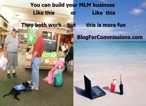 Build MLM online or belly to belly