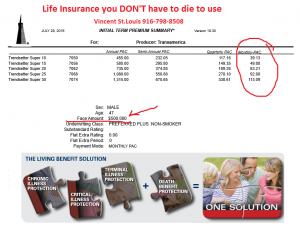 Trendsetter LB life insurance you don't have to die to use